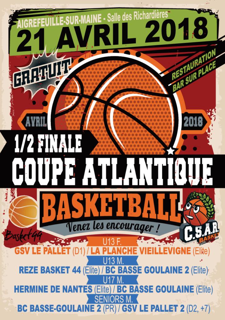 PRINT AFFICHE A3 Tournoi Basket - MAI 2018